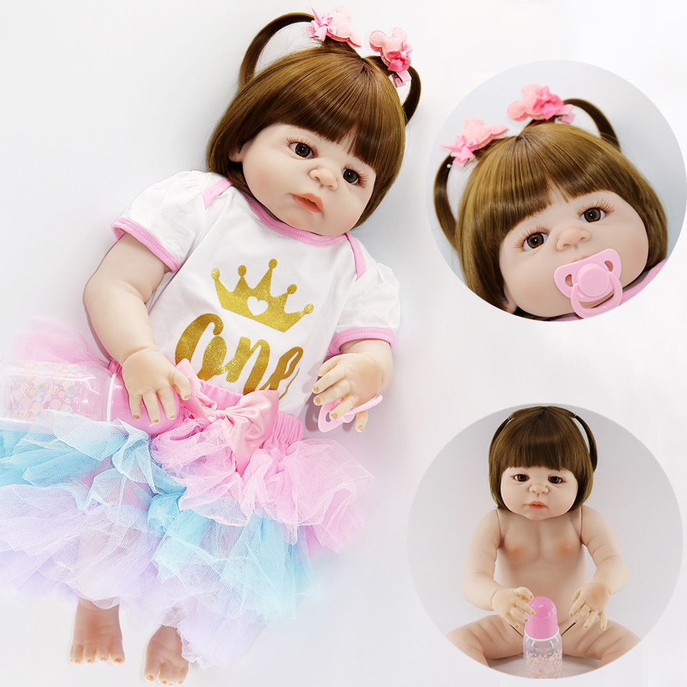 Bebes reborn dolls for sale 2357cm full silicone reborn baby girl dolls toys for children gift fashion princess real baby dollBebes reborn dolls for sale 2357cm full silicone reborn baby girl dolls toys for children gift fashion princess real baby doll