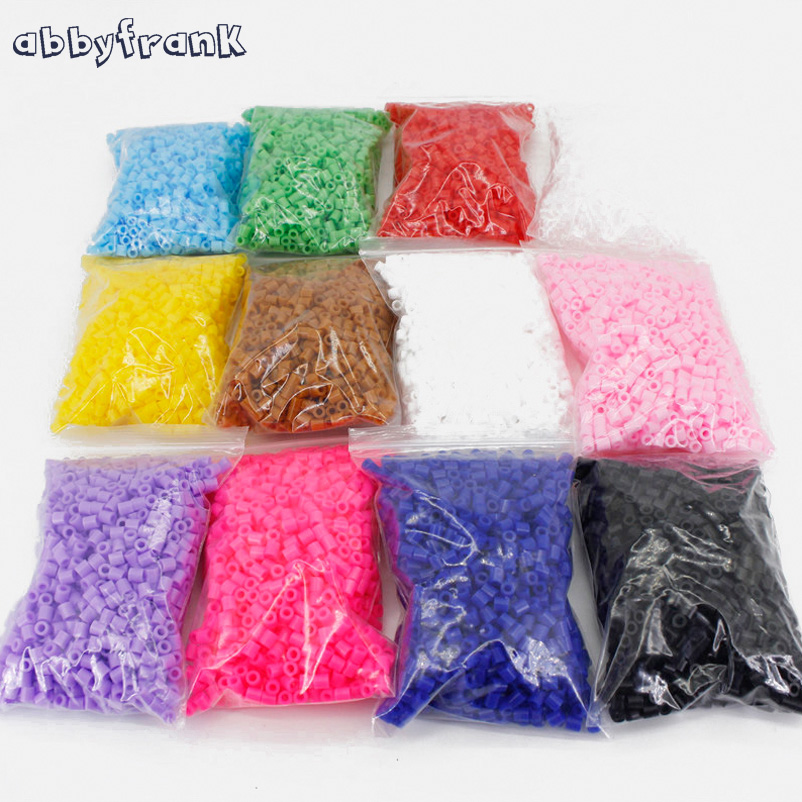 Abbyfrank 1000pcs 5mm EVA Hama/Perler Beads DIY Hama Beads 12 Colors Handmade Fun Craft Intelligence Educational Toys For Kids 5mm hama perler fuse beads 20 colours 4000pcs iron beads kids diy handmaking toys for children diy craft