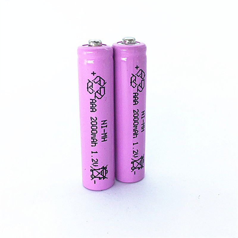 4pcs/Lot High Energy 1.2V Pink 2000mAh NiMh AAA Rechargeable Battery Ni-mh AAA Batteries Battria FREE shipping