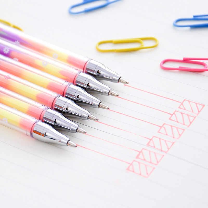 Evidenziatori penna di scrittura cancelleria Coreana del commercio all'ingrosso FAI DA TE 6 più un pastello penna, gesso acqua, graffiti studente pennarelli
