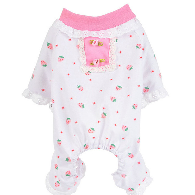Cotton Pets Dog Pajamas Lace Cute Lovely Autumn Warmer Soft Cozy Puppy Cat Sleeping