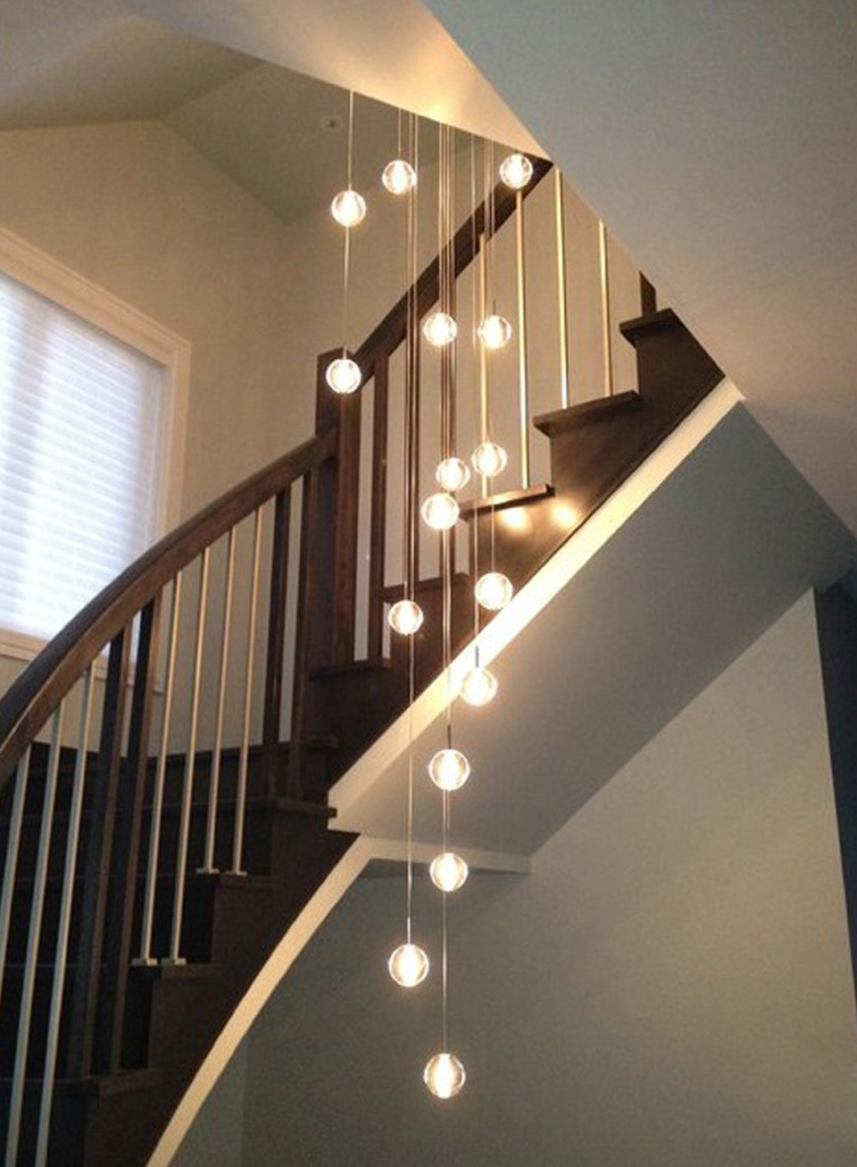 Modern Crystal Chandelier Ligt Fixutre LED Staircase Chandelier Lighting 20-head Guaranteed 100%+Free shipping! guaranteed 100