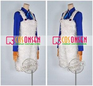 Image 3 - Cosplayonsen karneval nai cosplay traje azul camisa calças brancas qualquer tamanho feito à mão