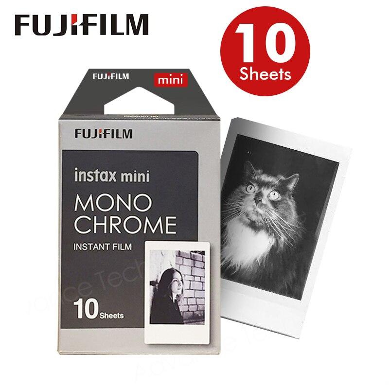 Original Fujifilm Fuji Instax Mini 8 Monochrome Film 10 Sheets For 70 50s 7s 90 25 Share SP-1 Instant Cameras New arrive