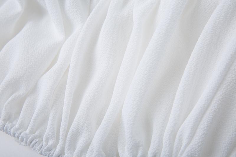 HTB1qKJbm1uSBuNjy1Xcq6AYjFXaz - Backless Short sleeve white camisole shirt women Off shoulder tank top Ruching ruffle lace up tops JKP399