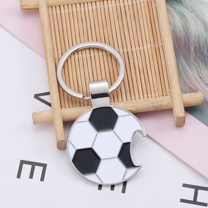Trendy-Football-Key-Chain-Creative-Beer-Bottle-Opener-Keychain-Enamel-Black-White-Soccer-Key-Ring-Unisex (2)