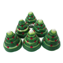 Christmas Soap Mold Silicone Tree Moulds Cakes Mousse French Dessert Pastry Baking Tools