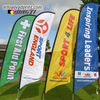 3M Tall Promotion Feather Flags Advertising One Side Printing Customized Company Flag 5pcs Lot Beach Flag