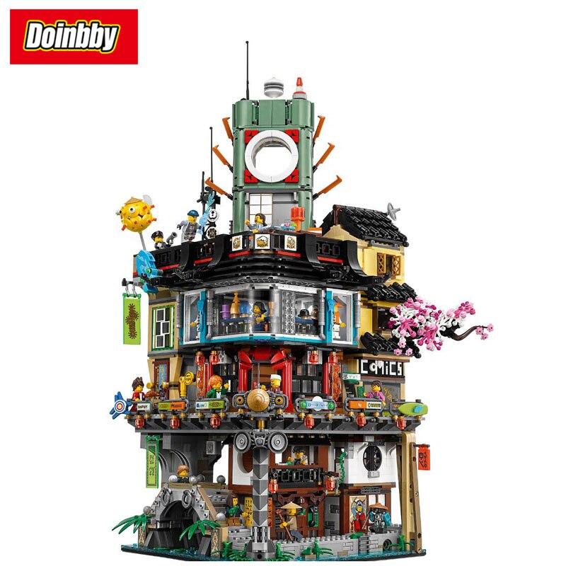 Lpein 06066 Ninja Movie Ninja City Masters of Spinjitzu Building Block Bricks Toys Kids Gifts Compatible Ninjagoes 70620