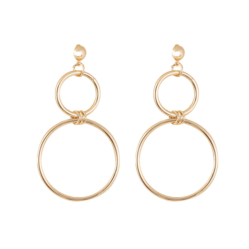Hot Sale 2018 New Fashion Drop Earrings Punk Simple Gold Long