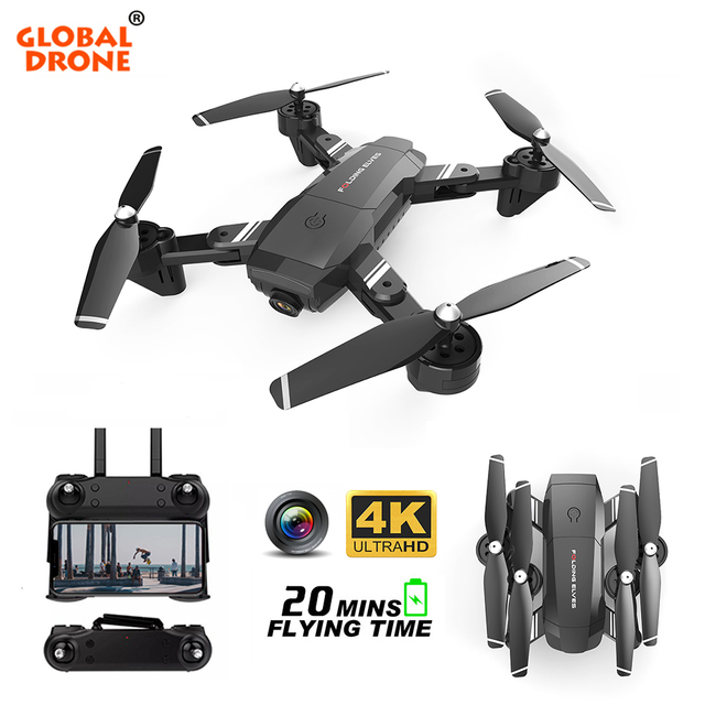 Global Drone 4K Camera Drone FPV Quadrocopter Follow me RC Helicopter Optical Flow Drones with Camera HD Dron