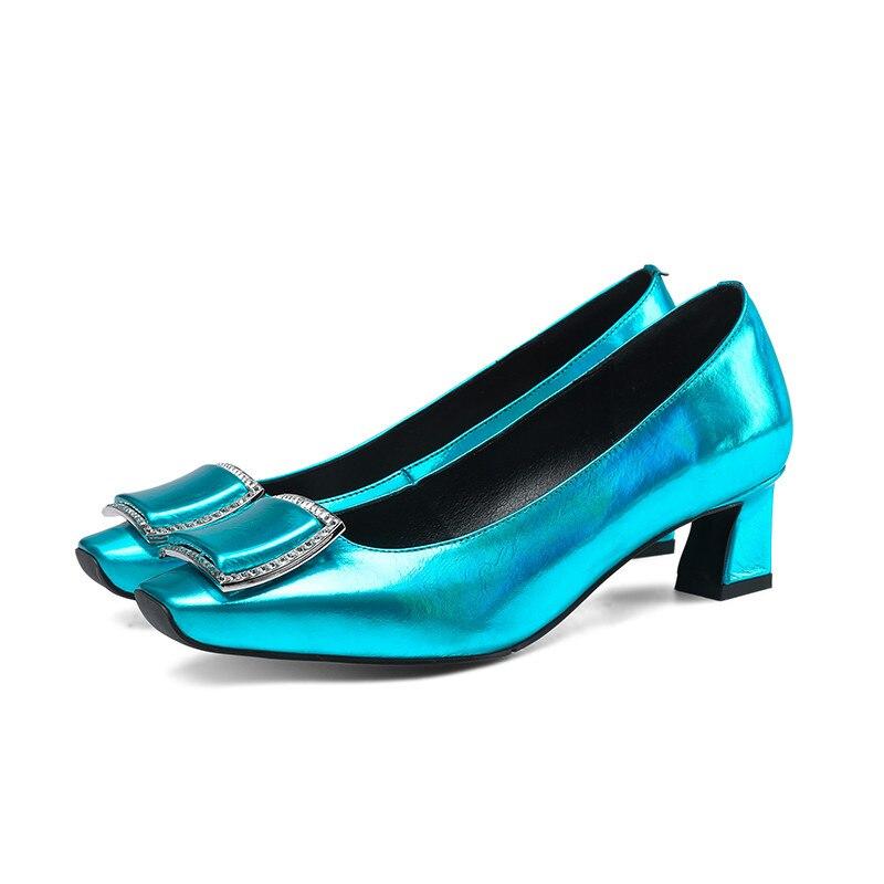 Ayakk.'ten Kadın Pompaları'de MORAZORA 2019 yeni varış kadın pompaları yüksek kaliteli patent deri ilkbahar yaz ayakkabı kare ayak basit ofis ayakkabı bayanlar'da  Grup 2
