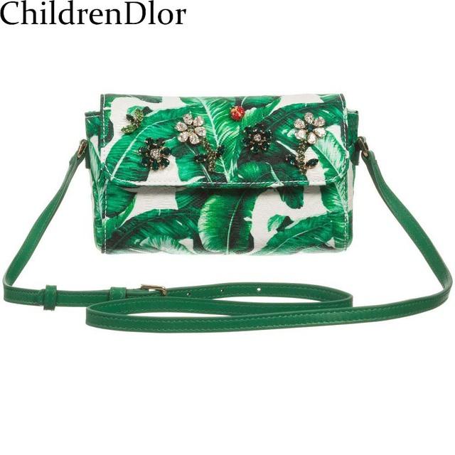 Roupa dos miúdos Meninas Roupas 2017 Crianças Marca de Roupas Traje Da Princesa Verde & Ivory 'Botanical' Impressão Meninas Trajes