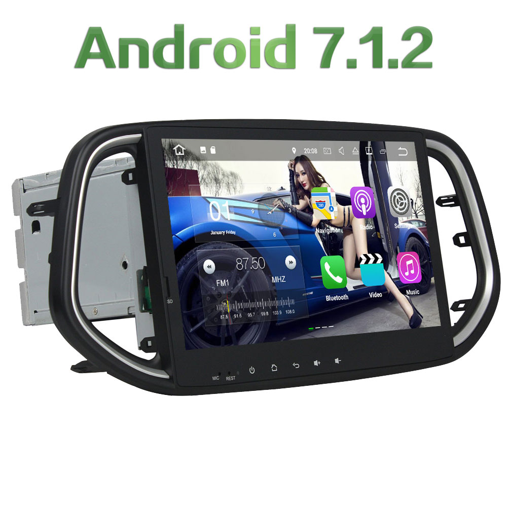 2 Din Car DVD Android 7 1 2 Radio font b Multimedia b font Player 1024