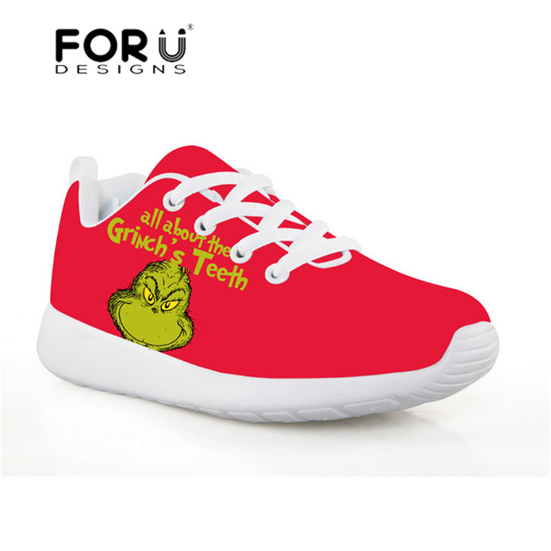 7d0d8890e526 Detail Feedback Questions about FORUDESIGNS The Grinch Printed Sneakers for  Girls Kids Soccer Shoes Mesh Children Sport Shoes Breathable Running Shoes  ...