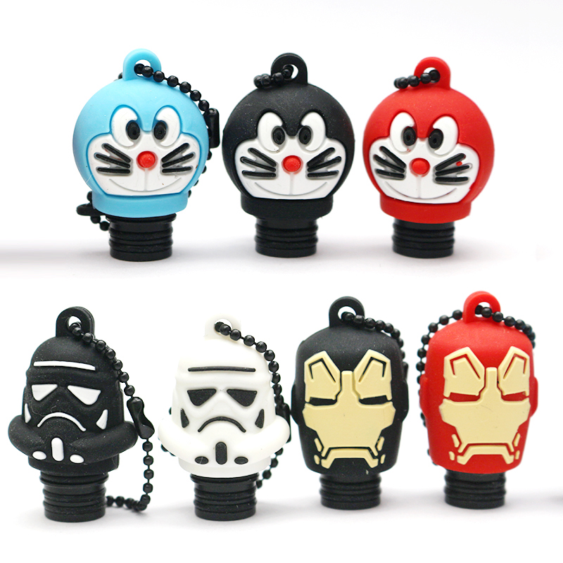 Wholesale 100pcs 510 Pom Drip Tip Silicone Cap Doraemon Iron Man Star Wars Style Drip Tip For Tfv8 Baby Falcon Valyrian An Enriches And Nutrient For The Liver And Kidney Electronic Cigarettes