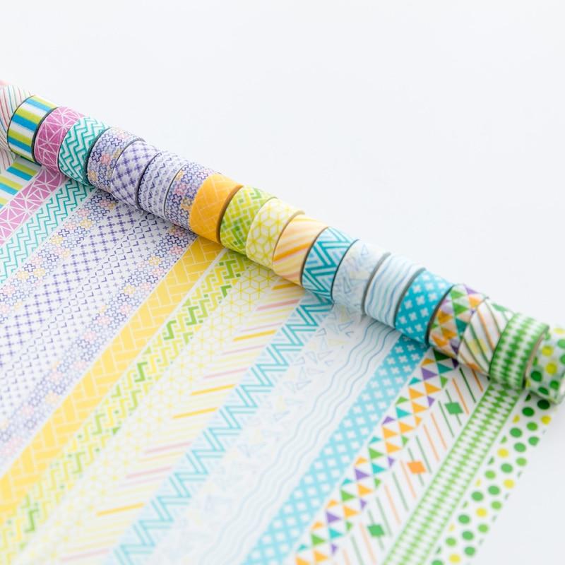 4 Pcs Fresh Color Cute Washi Tape DIY Decoration Masking Tape Label Sticker Stationery School Office Supply