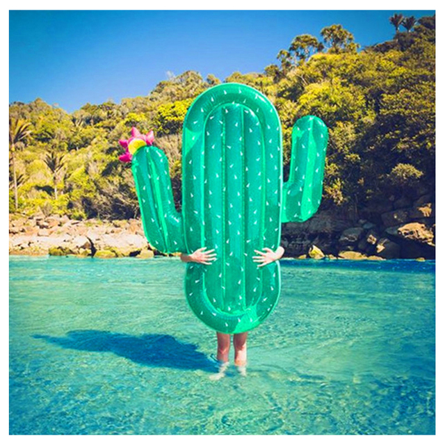 180*145CM Big Large Size Green Inflatable Cactus Floating Adult Pool Toys