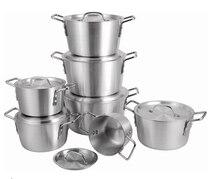7 sztuk/zestaw gruby garnek aluminiowy zestaw wielofunkcyjny garnek garnek do zupy zestaw garnków panela narzędzie do gotowania