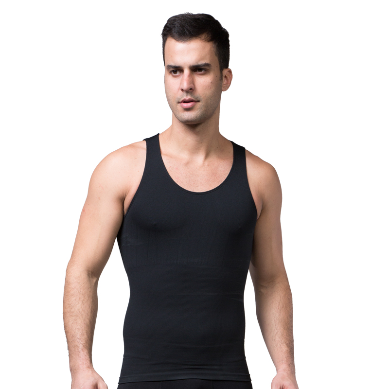 ec67f0118b1 2017 Plus Size Mens Slimming Body Shaper Wear Vest Tank Tops T Shirts Men s  Undershirts Summer Sheer Mesh Lingerie Corset-in Shapers from Underwear ...