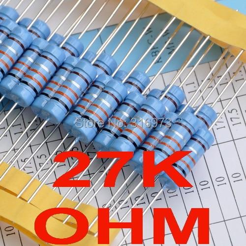 ( 2 шт./лот ) 27 К ом 1% металлопленочные резисторы 3 Вт, 3 Вт
