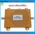 Frete grátis 2G GSM 900 Mhz DCS 1800 MHz Dual Band Mobile Phone Signal Booster, Mini 2G GSM DCS Repetidor de Sinal + Adaptador de Energia