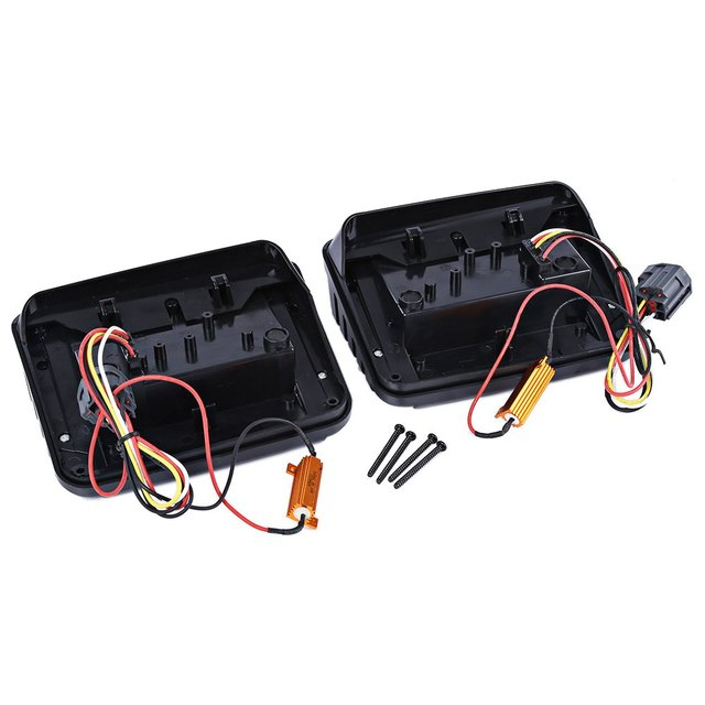 Car LED Break Stop Tail Light for Jeep Wrangler Shock-proof and Water Resistance High-performance LED Lamps 2pcs OL – JT03
