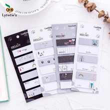 hot deal buy ellen brook 1 pieces cartoon kawaii cat sticky notes creative stationery post notepad filofax memo pads office school supplies