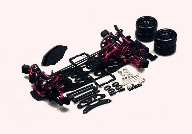 Rcmoy Alloy Carbon 1 10 Rc Drift Car Kit For 3 Racing Sakura D4
