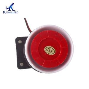 Image 2 - Red & Black Mini Wired 72 Mm Kabel 120dB Luid Sirene Hoorn Voor Home Security Sound Alarmsysteem DC12V 24V 5V Bescherming Voor Thuis