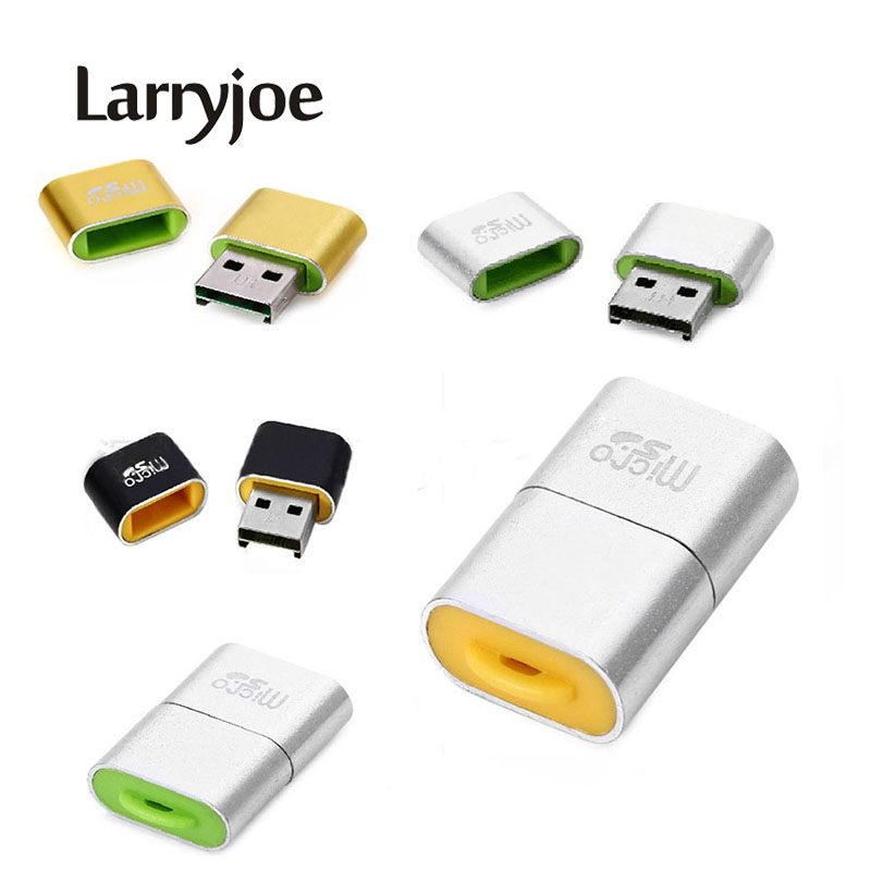 Larryjoe High Speed Sim Card Readers USB 2.0 Micro SD TF T-Flash Memory SD Card Reader Adapter