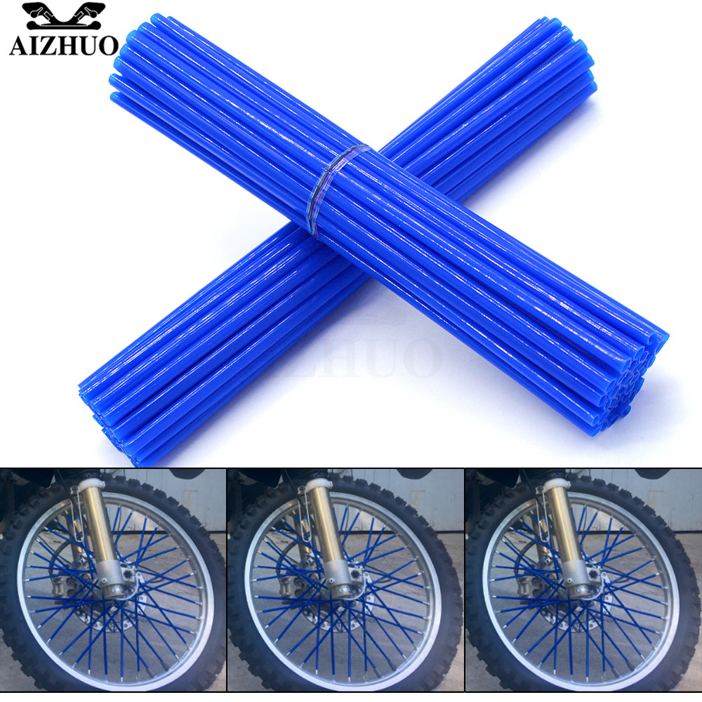 Universal Motorcycle Wheel Spoke Skins Cover Wrap Tube Decoration FOR SUZUKI DRZ400SM DR250R DR250S 250SB Honda CRM250R XR400 in Covers Ornamental Mouldings from Automobiles Motorcycles
