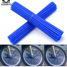 Universal Motorcycle Wheel Spoke Skins Cover Wrap Tube Decoration FOR SUZUKI DRZ400SM DR250R DR250S 250SB Honda CRM250R XR400