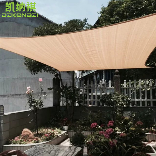 3 X 3 M Square Pool Shade Sails 95% UV Combination HDPE UV Sun Shade