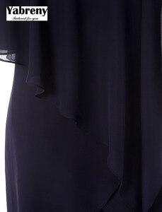 Image 5 - Yabreny Новое поступление аварийный шифоновый костюм из двух частей для матери невесты брюки с асимметричным подолом MT0017013