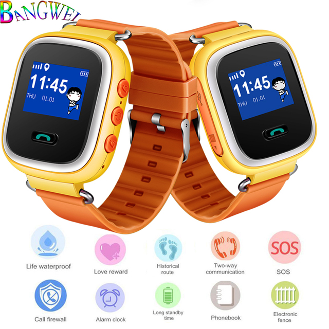 15284945eb3 BANGWEI Children s Smart Watch Security SOS Call LBS Mobile Phone  Positioning Anti-lost Tracker Support