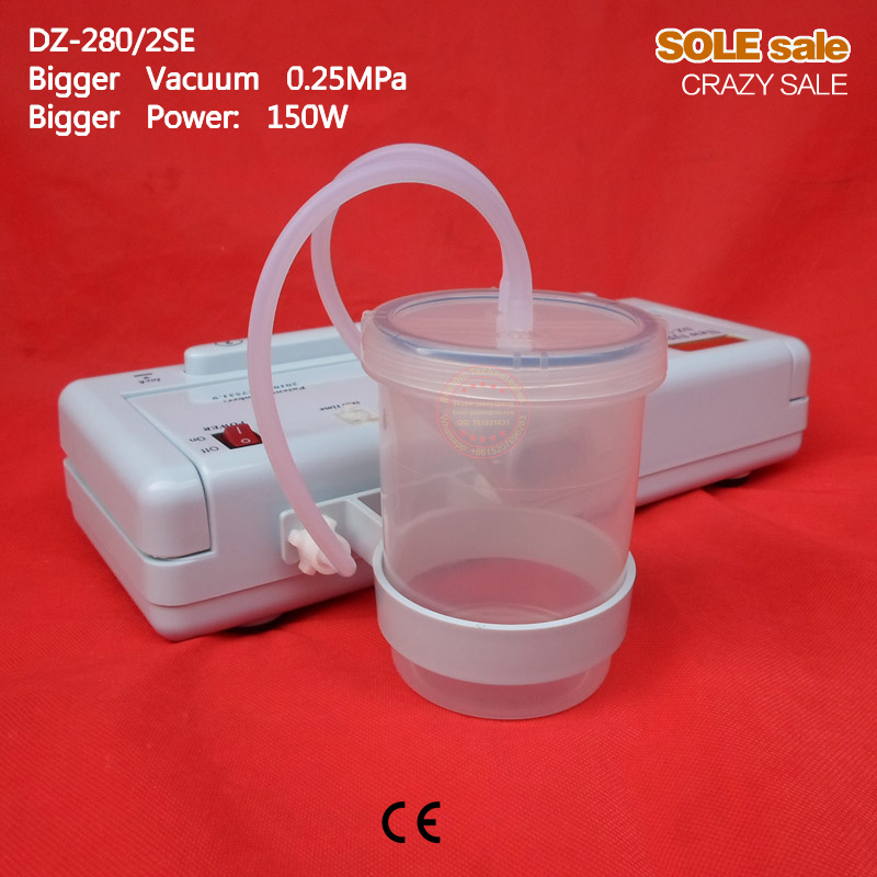 ФОТО Vacuum packaging machine DZ-280/2SE plastic bags vacuums sealer aluminum food bag sealing tools equipment freshness keep packer