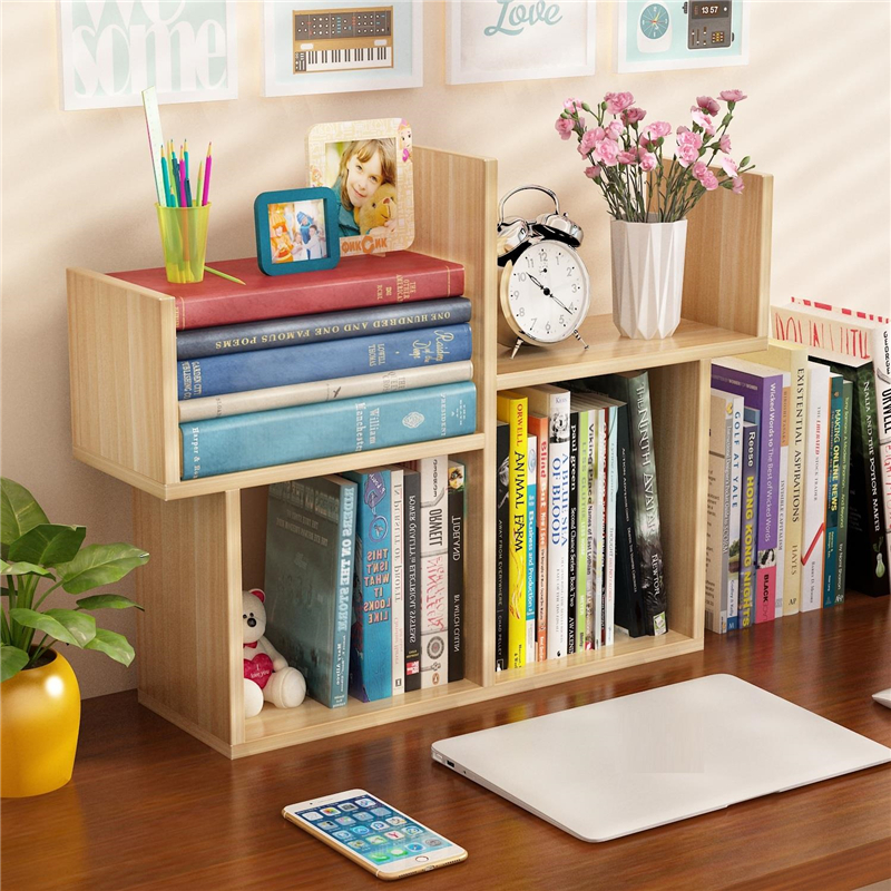 Desktop Small Mini Bookshelf Simple Modern Student Bookcase Children Desk Storage Shelves