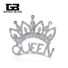 Mano-made Pageant Crown Queen Spilla Spille Strass Gioielli Alla Moda(China)