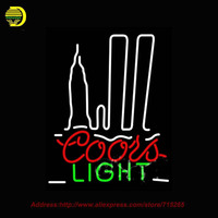 Neon Sign Coors Light Silver Bullet Nyc Glass Tube One Neon Signs Handcrafted Free Design Recreation