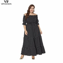 VIP FASHION 2019 New Products Summer Ladies Dot Casual Dress