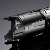 Nitecore PVD Crenulated 40mm Bezel Stainless Steel Black Finish For Nitecore P25 SRT7 MH25 EA41 CU6