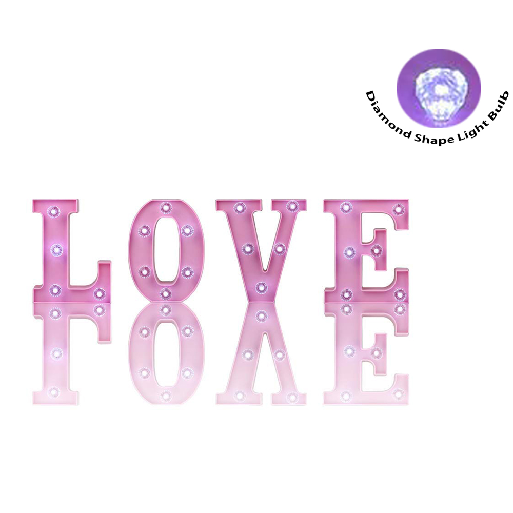 DELICORE LOVE Alphabet Sign LED Night Light Lamp Wedding Marquee ...