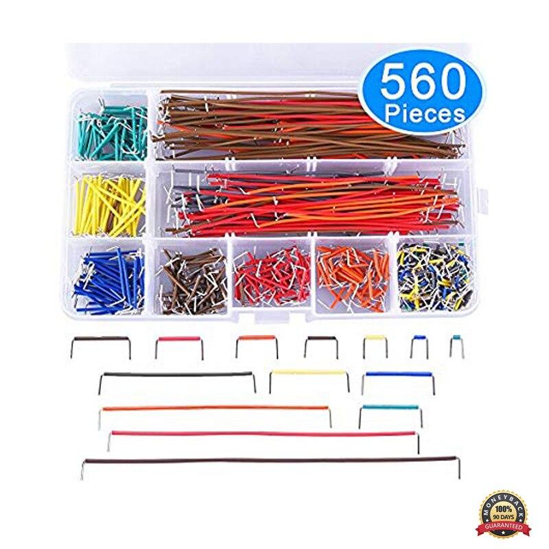 560pcs 14 lengths U-Shape Solderless Breadboard Jumper Cable Wires Kit