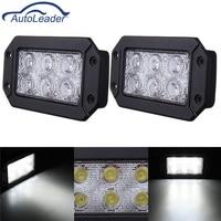 Autoleader 2PCS Car Truck Boat 18W LED Work Light Bar Waterproof IP68 Spotlight Beam Driving Light