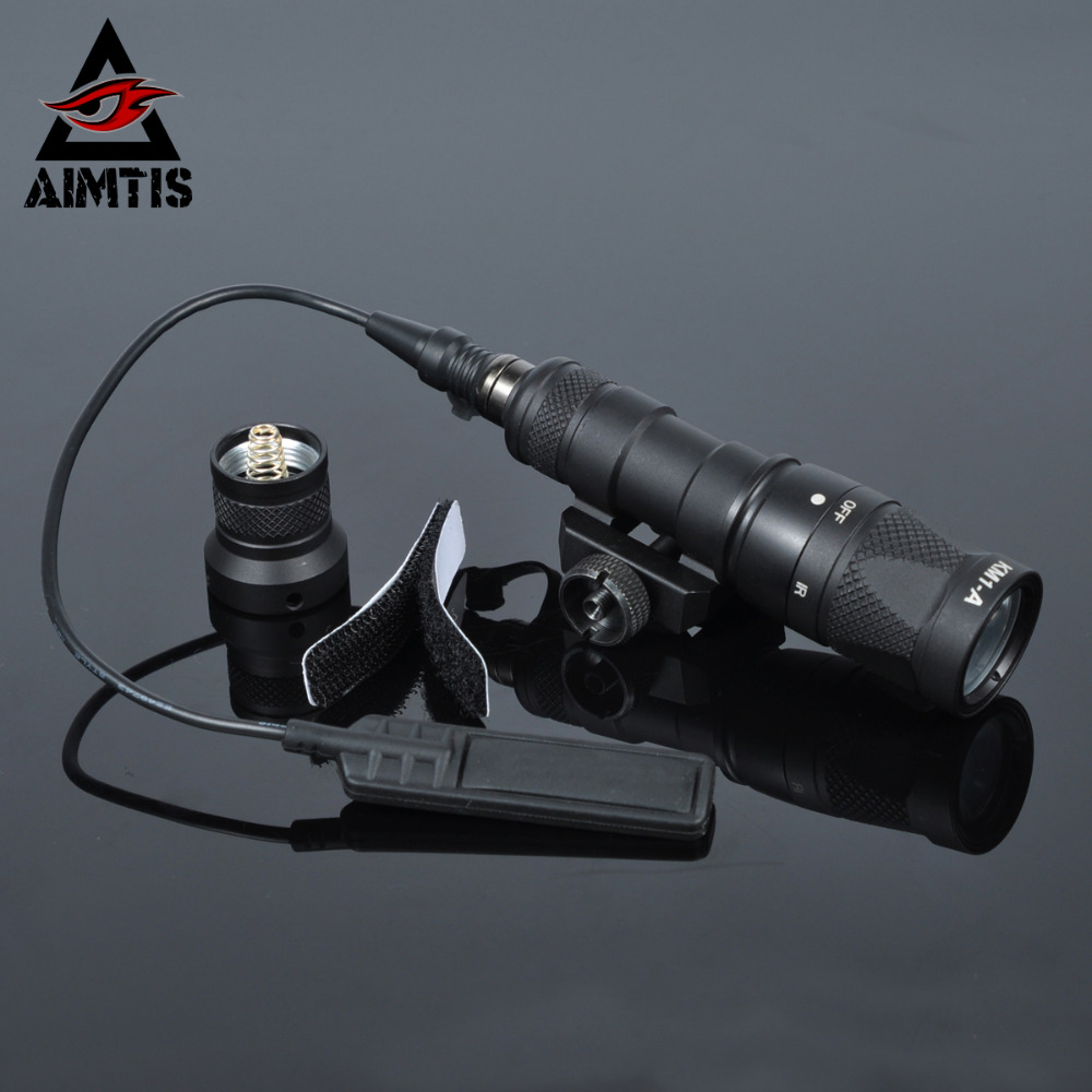 AIMTIS M300V Tactical Flashlight Gun Weapon Light With Constant Strobe momentary Output For 20mm Picatinny Rail Free Shipping greenbase sf tactical m300v ir scout light weaponlight white and led ir flashlight constant momentary output 20mm rail