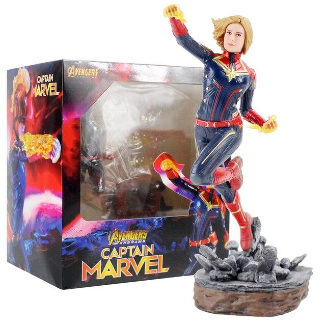 22 cm la figura de acción de los Vengadores Endgame el capitán carry Danvers coleccionable modelo de juguete regalo para niños