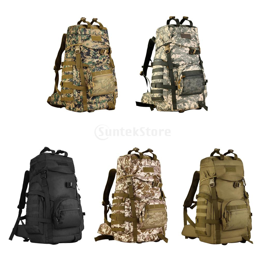 60L Outdoor Sports Hiking Camping Army Military Travel Bag Tactical Trekking Rucksack Backpack Daypack Shoulder Bag Camo 600d outdoor sports bag shoulder military camping hiking bag tactical backpack utility camping travel hiking trekking bags