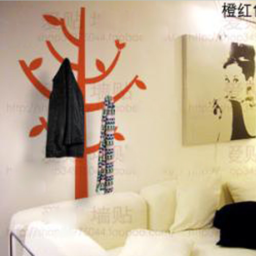 Free shipping tree clothes stand bedroom living room decor mural art vinyl wall sticker home window