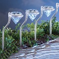 HOT 8PCS Solar Powered Lamp Lawn light garden Yard decoration 100% solar power led  outdoor Waterproof lights Diamond lamp K63